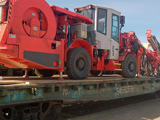 Перевозка буровой установки Sandvik DD 420-40C