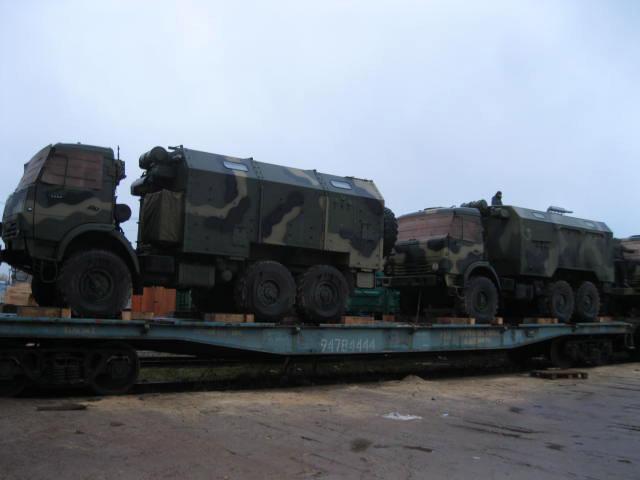 Отправка на экспорт войсковых автомобилей радио-локационного комплекса (по заказу Министерства обороны Казахстана)