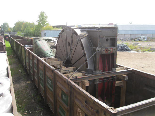 Перевозка частей фрезерного станка
